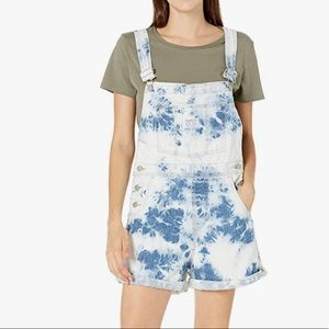 Levis Tie Dye Overalls Shorts Blue Shortall NWT